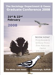 The Graduate Conference programme 2008