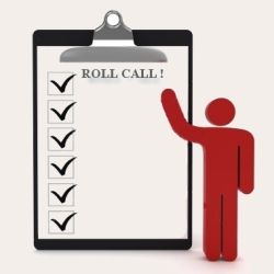 Image of roll call icon