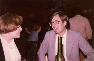 Tony with Alison Scott at an Examiner's Dinner around 1979
