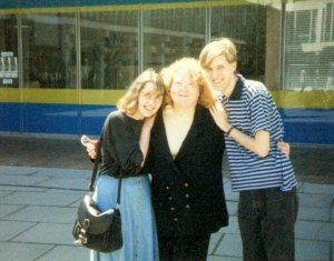 Anne-Marie, Johanna and Paul (just after our finals in 1998)
