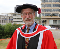 Paul Thompson gaining an Honorary Degree at Essex in July 2015