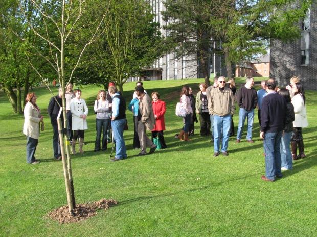 Planting Iain's memorial tree 2008